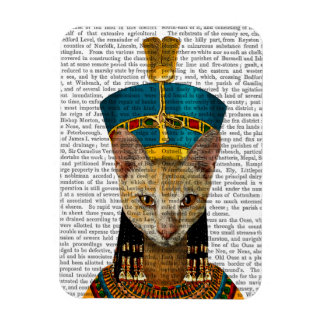 Gato egipcio de la reina imán rectangular