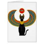 Gato egipcio tarjeta