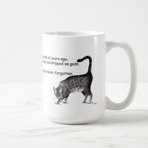 Gato egipcio taza de café
