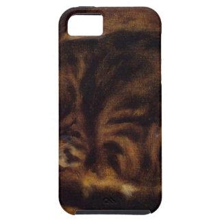 Gato el dormir de Pierre-Auguste Renoir Funda Para iPhone SE/5/5s