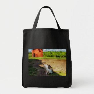 Gato - el perro ratonero bolsa tela para la compra