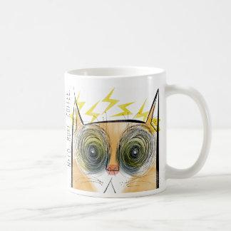 Gato eléctricamente urgente del cafeína taza