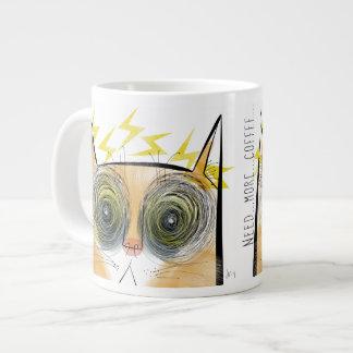 Gato eléctricamente urgente del cafeína taza grande