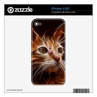 Gato eléctrico skins para iPhone 4S