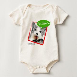 gato elegante body de bebé