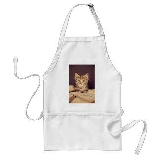 gato elegante delantal