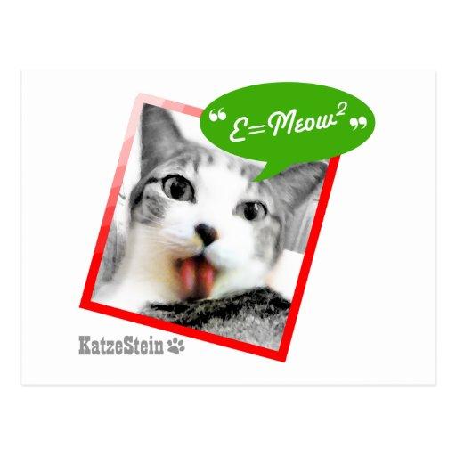 gato elegante tarjetas postales