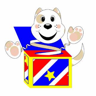 Gato Elliot de Skrunchkin en caja colorida Escultura Fotografica