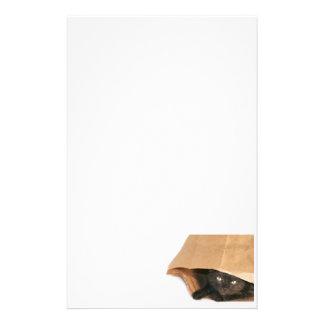 Gato en bolso papelería personalizada