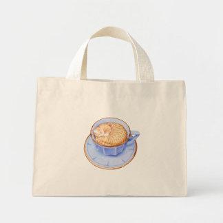 Gato en café bolsas de mano