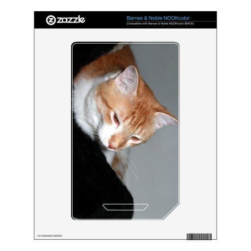 Gato en cama skin para el NOOK color