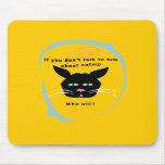 gato en colores divertidos del personalizar de la  alfombrillas de ratón