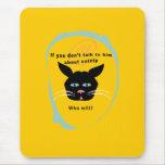 gato en colores divertidos del personalizar de la alfombrilla de ratón