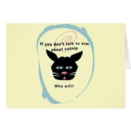 gato en colores divertidos del personalizar de la  tarjetas