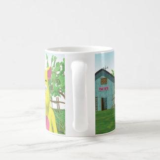 Gato en cubo de la leche taza clásica