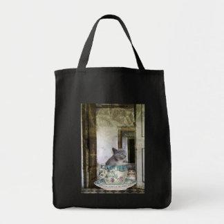 Gato en el bolso de la taza bolsas de mano