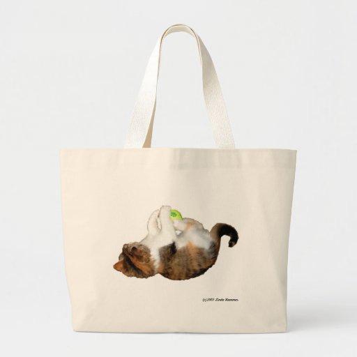 Gato en el bolso en vez en del bolso bolsas lienzo