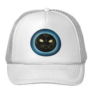 Gato en el casquillo de Halloween de la luna Gorro