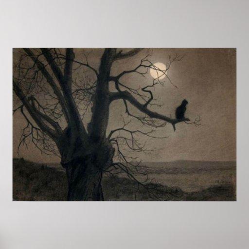 Gato en el claro de luna, Alejandro Steinlen Posters