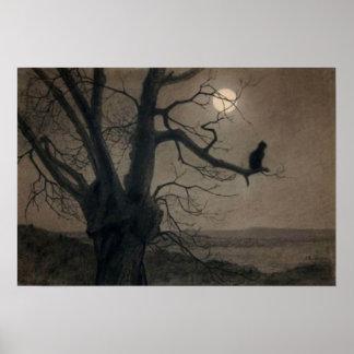 Gato en el claro de luna, Alejandro Steinlen Póster