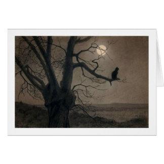 Gato en el claro de luna, Alejandro Steinlen Tarjeta De Felicitación
