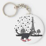 Gato en el llavero de París