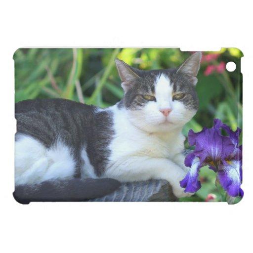 Gato en el mini caso del jardín iPad mini cárcasas