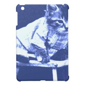 Gato en el taburete que lleva un suéter