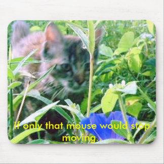Gato en el vagabundeo alfombrilla de ratones
