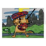 Gato en Escocia Tarjeta