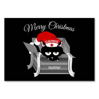 Gato en Felices Navidad de una caja