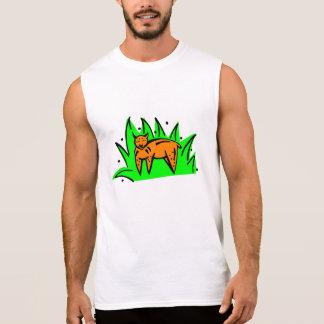 Gato en hierba camiseta sin mangas