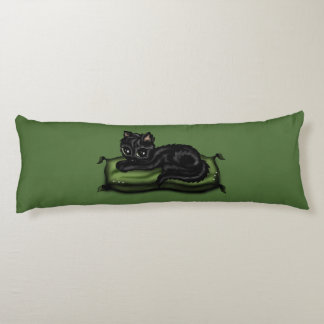 gato en la almohada cojin cama