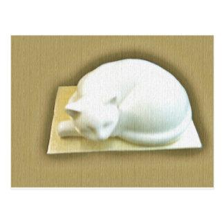 Gato en la caja II del oro Tarjeta Postal