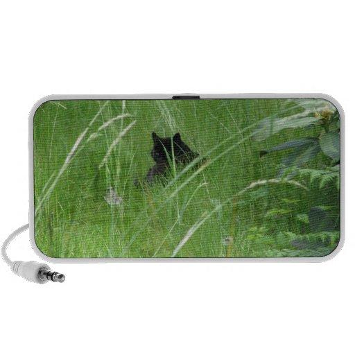 Gato en la hierba notebook altavoz