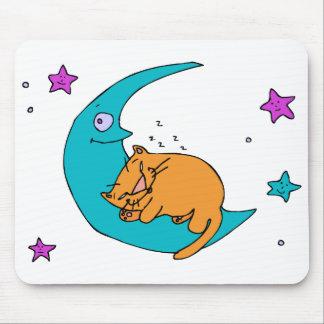 Gato en la luna tapetes de raton