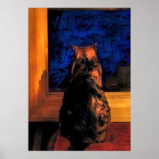 Gato en la ventana posters