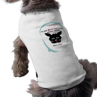 gato en mascota divertido de los colores del perso ropa perro