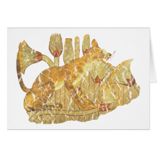 gato en pantano tarjeta de felicitación