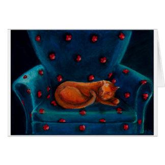 gato en silla felicitación
