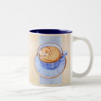 Gato en taza del Dos-Tono del café