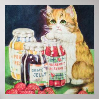 gato en un atasco póster