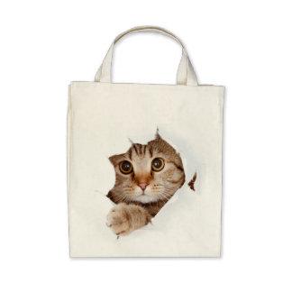 ¡Gato en un bolso! Bolsas De Mano