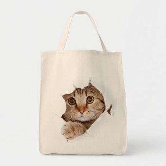 ¡Gato en un bolso! Bolsa Tela Para La Compra