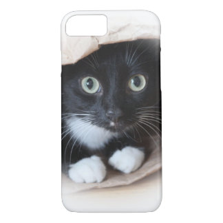Gato en un bolso funda iPhone 7