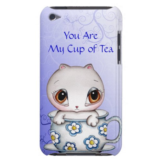 Gato en un caso del tacto de iPod de la taza de té Case-Mate iPod Touch Carcasas