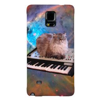 Gato en un teclado en espacio funda galaxy note 4