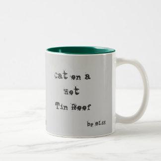 Gato en un tejado caliente de la lata por el eLiN Taza De Café