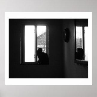 Gato en un windowsill impresiones