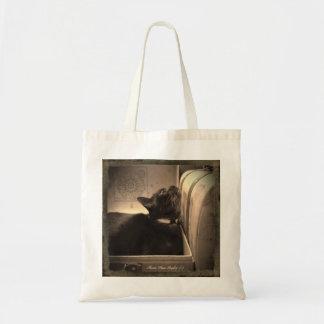 Gato en una caja antigua (del estilo), 3 de 4 bolsa tela barata